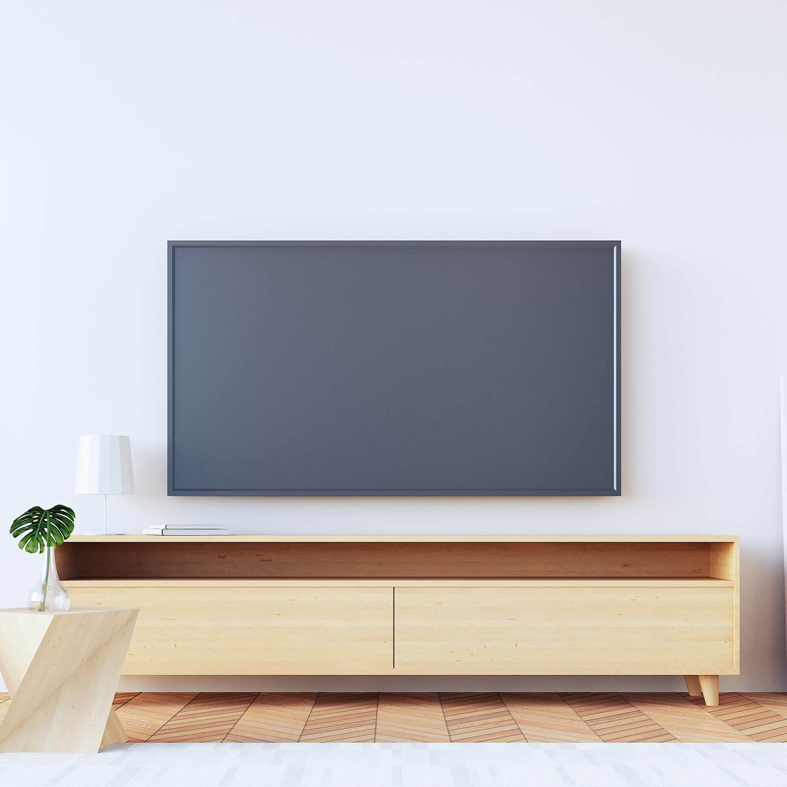 tv in living room / 3d rendering